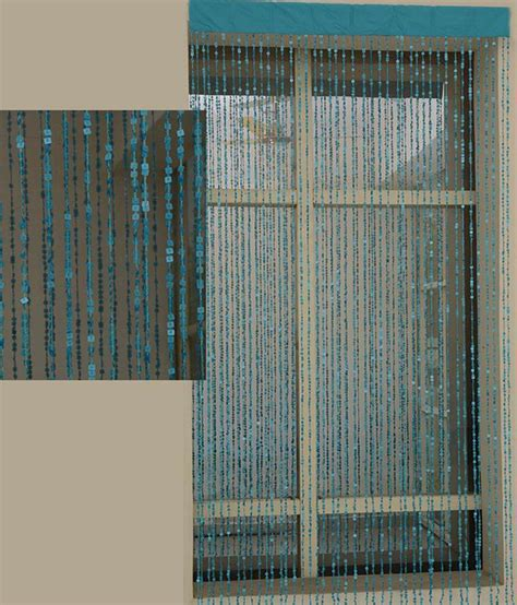modern beaded curtains aadyahome blue contemporary beaded string curtain 1 pc