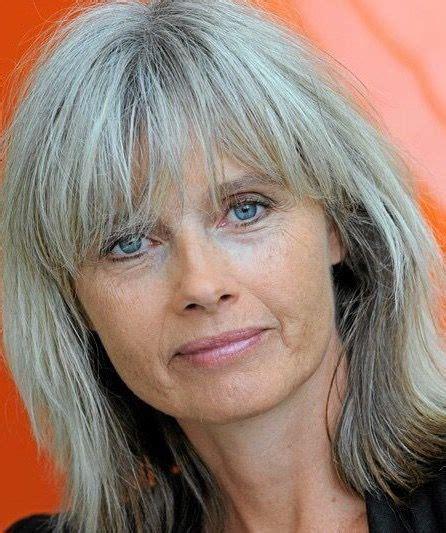 highlights for white hair on older women elsebeth egholm hairstyles pinterest gray hair
