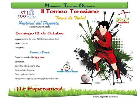 Calendario Xmatkuil 2014 Santa Teresa De Jesus Ii Torneo Teresiano
