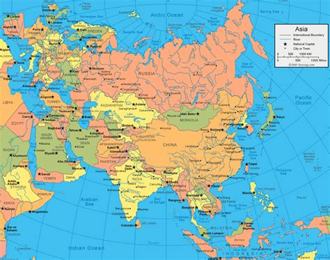 europe and asia map maps asia map and asia