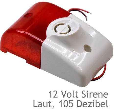 12 volt security light siren with alarm light 105 decibel 12v 12 volt uv