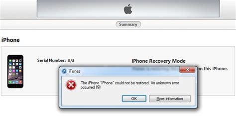 solutions to fix itunes error 9 or iphone error 9 dr fone