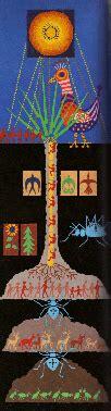 painting   hopi indians gods tawa