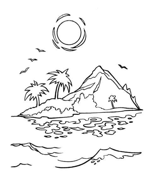 Pirate Island Coloring Pages sketch template