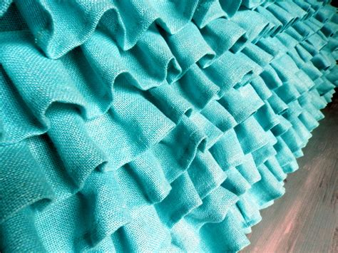 turquoise bed skirt turquoise ruffled burlap bed skirt queen size 60 by