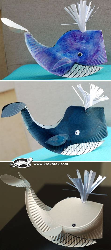 How To Make A 3d Fish Out Of Paper - best 25 whale crafts ideas on kinds of whales