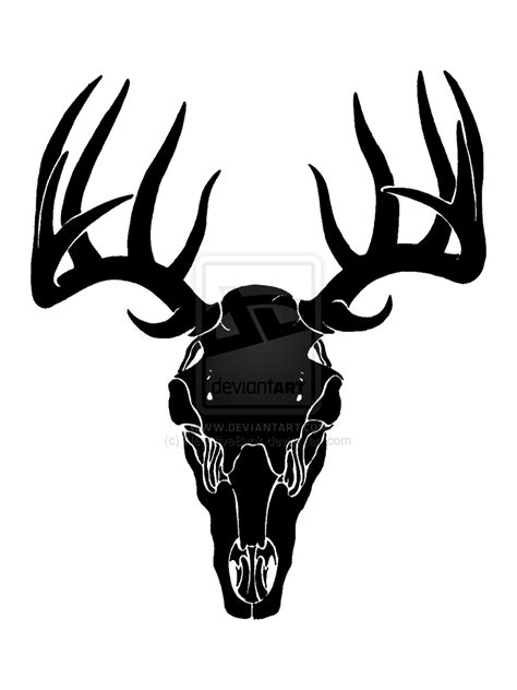 Silikon 3d Brown Line Duck buck clipart deer skull pencil and in color buck clipart