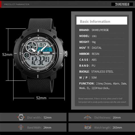Tasbih Digital Murah Cod Ke Toko skmei jam tangan digital analog pria 1361 black jakartanotebook
