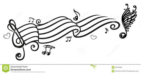 music music notes clef stock vector illustration of