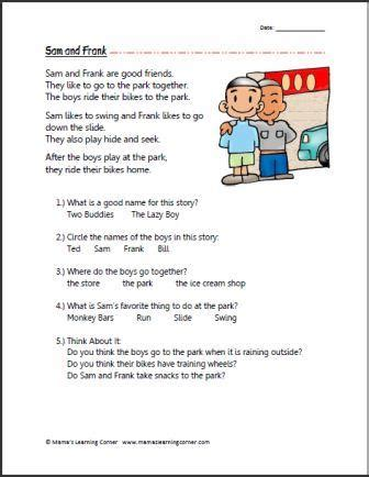 1st Grade Comprehension Worksheets by Grade Reading Comprehension Worksheets