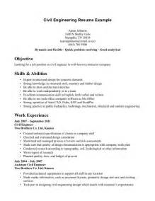Html Resume Exles by Civil Engineering Resume Resume Format Pdf