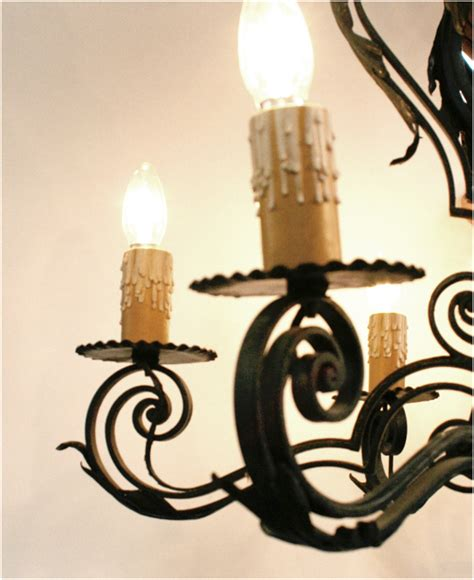 Interior Decoration Home Spanish Wrought Iron Chandelier Haunt Antiques For The
