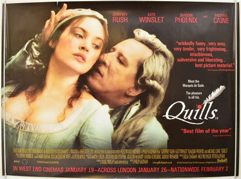 quills movie poster quills original cinema movie poster from pastposters com