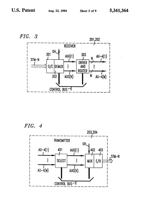 multiplex section protection msp patent us5341364 distributed switching in bidirectional