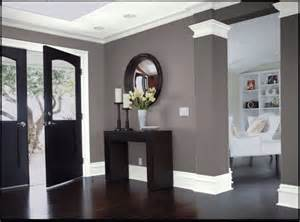 gray walls with white trim car interior design