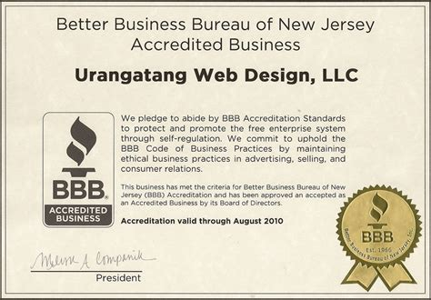 better business bureau certification urangatang web design content management systems