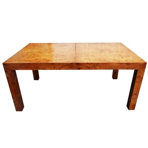 Parsons Dining Table Milo Baughman Olive Burl Wood Parsons Dining Table Or Desk For Sale At 1stdibs