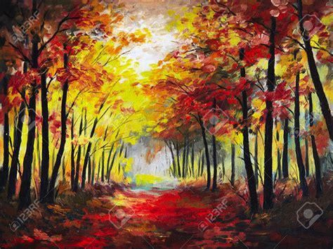Paint A L by Peinture 224 L Huile Paysage La For 234 T D Automne Color 233