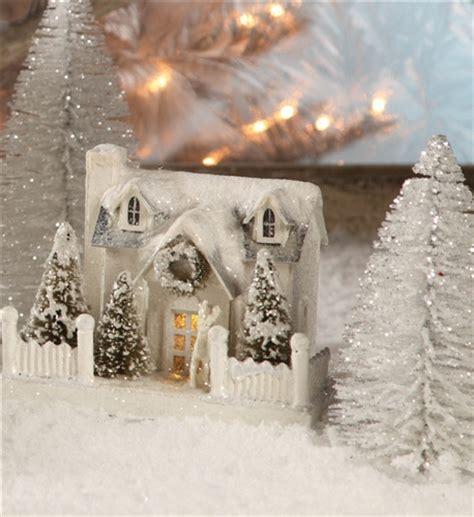 Ivory Glitter House   Putz Village House   Bethany Lowe