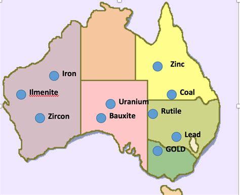 australia resource map resources aus