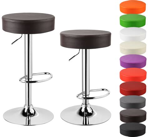 Leather Breakfast Bar Stools by Faux Leather Bar Stools Set Of 2 Kitchen Breakfast Chrome