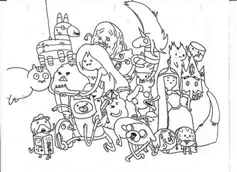 imagenes para pintar hora de aventura pintar y colorear imagenes de dibujos animados