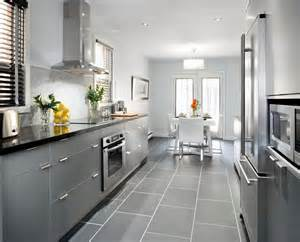Gray Tile Kitchen Floor Grey Cabinets With Black Counters Wood Floors Countertops Color Appliance House