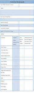 construction meeting minutes template agenda template for construction meeting exle of