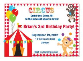 Circus Theme Invitation Templates circus theme customized invitations by myfashionlove on etsy