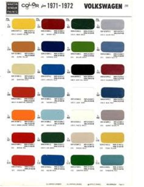 68 vw transporter original colors haku original vw colers 68 colors