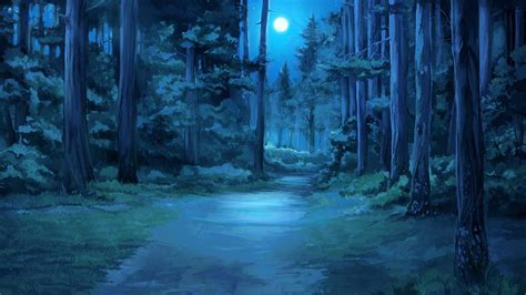 everlasting summer moon moonlight forest clearing