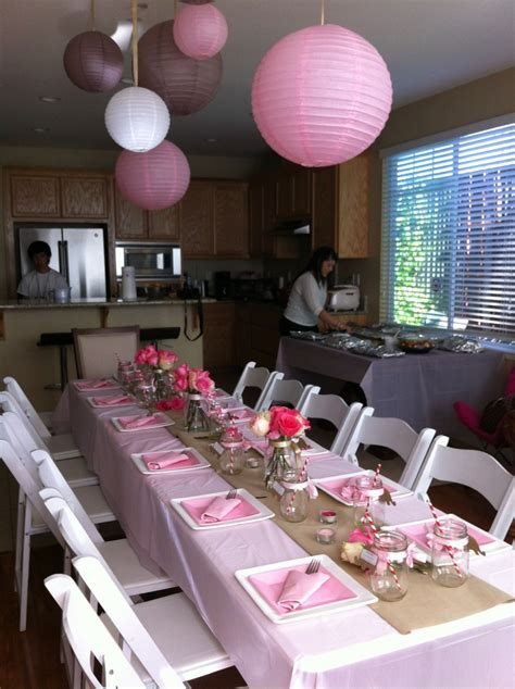 baby shower table setting juna s baby shower table setting theme pink tan white