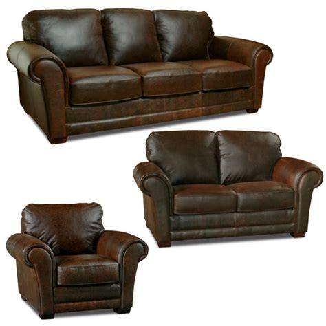 Chocolate Couches by Luke Leather Quot Quot Italian Leather Distressed Chocolate