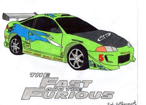 mitsubishi eclipse drawing pics for gt how to draw fast and furious cars