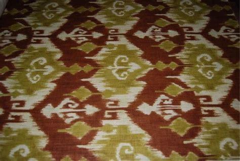Tribal Upholstery Fabric by Ikat Kravet Tribal Print Linen Weave Slubby