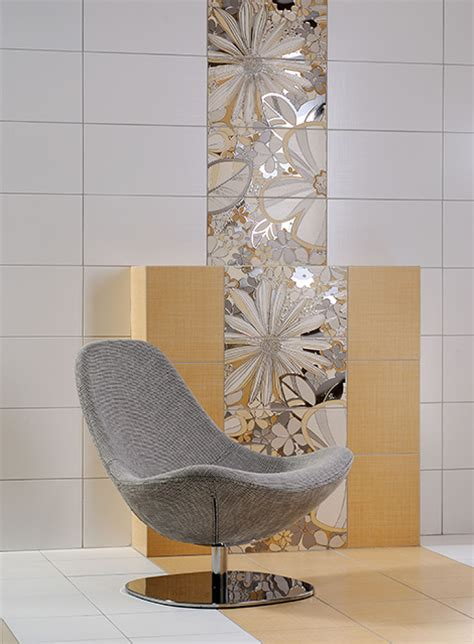 decorative wall tiles bathroom decorative floral tile from rako will add buoyant blooms