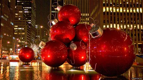 giant christmas ornaments decoration in nyc balls hd wallpaper 187 fullhdwpp hd wallpapers 1920x1080