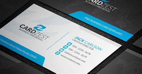 blue corporate business card template with qr code black blue and white corporate business card template