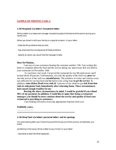 Complaint Letter Ielts Ielts Writing