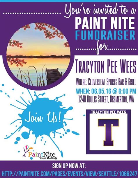 paint nite langley paint nite fundraiser at cloverleaf sports bar and grill
