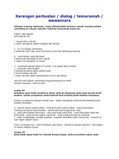 format karangan berita tahun 6 karangan perbualan