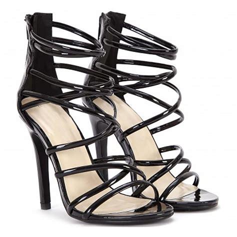 black patent high heel sandals black patent ankle straps strappy sandals stilettos