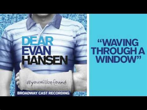 dear evan hansen through the window books dear evan hansen waving through a window tekst