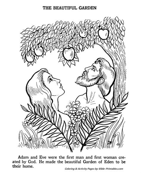 adam and eve old testament coloring pages bible printables