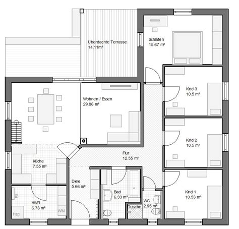 5 zimmer bungalow grundriss hausbau grundrisse grundrisse f 252 r einfamilienh 228 user