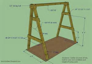 A Frame Building Plans by Lazy Liz On Less Swing Set Go