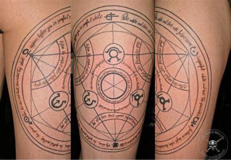 transmutation circle tattoo pin by hansen mills on great artist