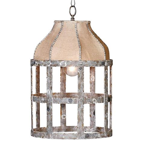 Country Cottage Lighting by Lucia Country Cottage Rustic Iron Burlap 1 Light