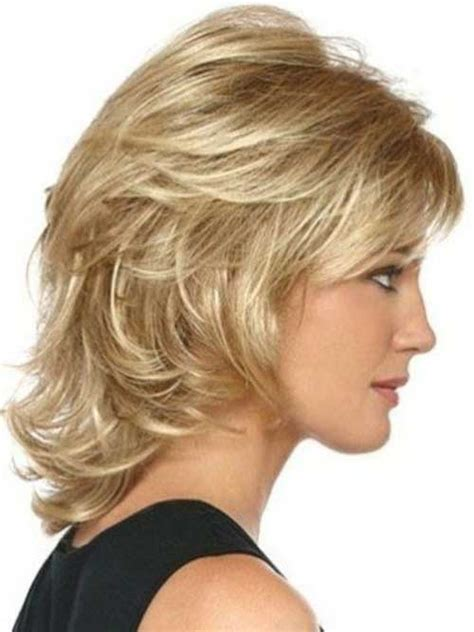 shoulder length layered natural curly haircuts with front and back pictures 15 medium short hair cuts short hairstyles 2017 2018