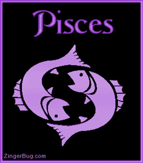 pisces purple astrological sign glitter graphic
